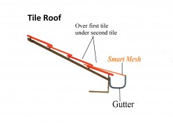 install guttermesh on tile roof